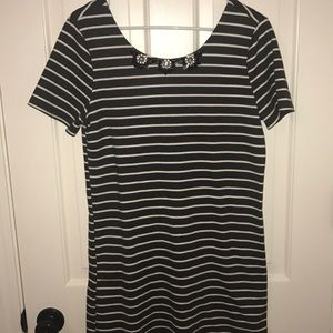 Dresses & Skirts - Striped Short Sleeve Sweater Dress